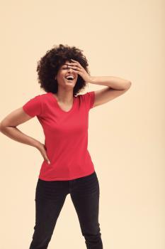 Tričko dámské Lady-Fit Valueweight V-Neck T - zvětšit obrázek