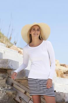 Tričko dámské dl.rukáv Lady-Fit Valueweight T - Výprodej