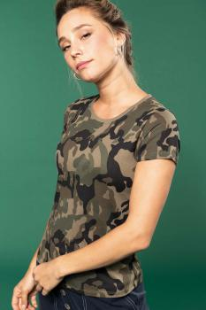 Dámské tričko Camo camouflage