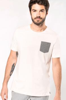 Organické tričko s kapsičkou