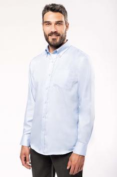 Pánská košile s dlouhým rukávem v nežehlivé úpravě