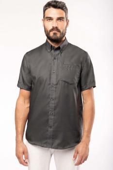 Pánská košile krátký rukáv v nežehlivé úpravě - zvětšit obrázek
