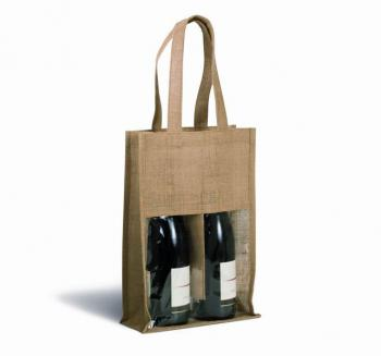 Jutová taška na vína