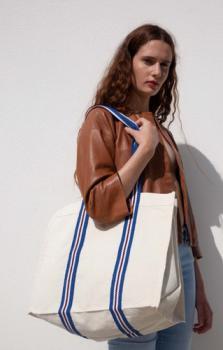 Módní nákupní taška z organické bavlny - zvětšit obrázek