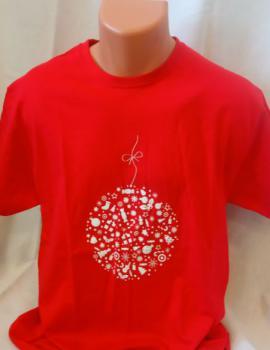 Unisex tričko - Vánoční motiv ve tvaru baňky