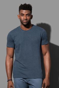 "Pánské tričko LUKE melír do ""U"" - Výprodej"