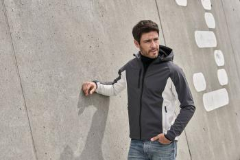 Pánská softshellová bunda s kapucí - zvětšit obrázek